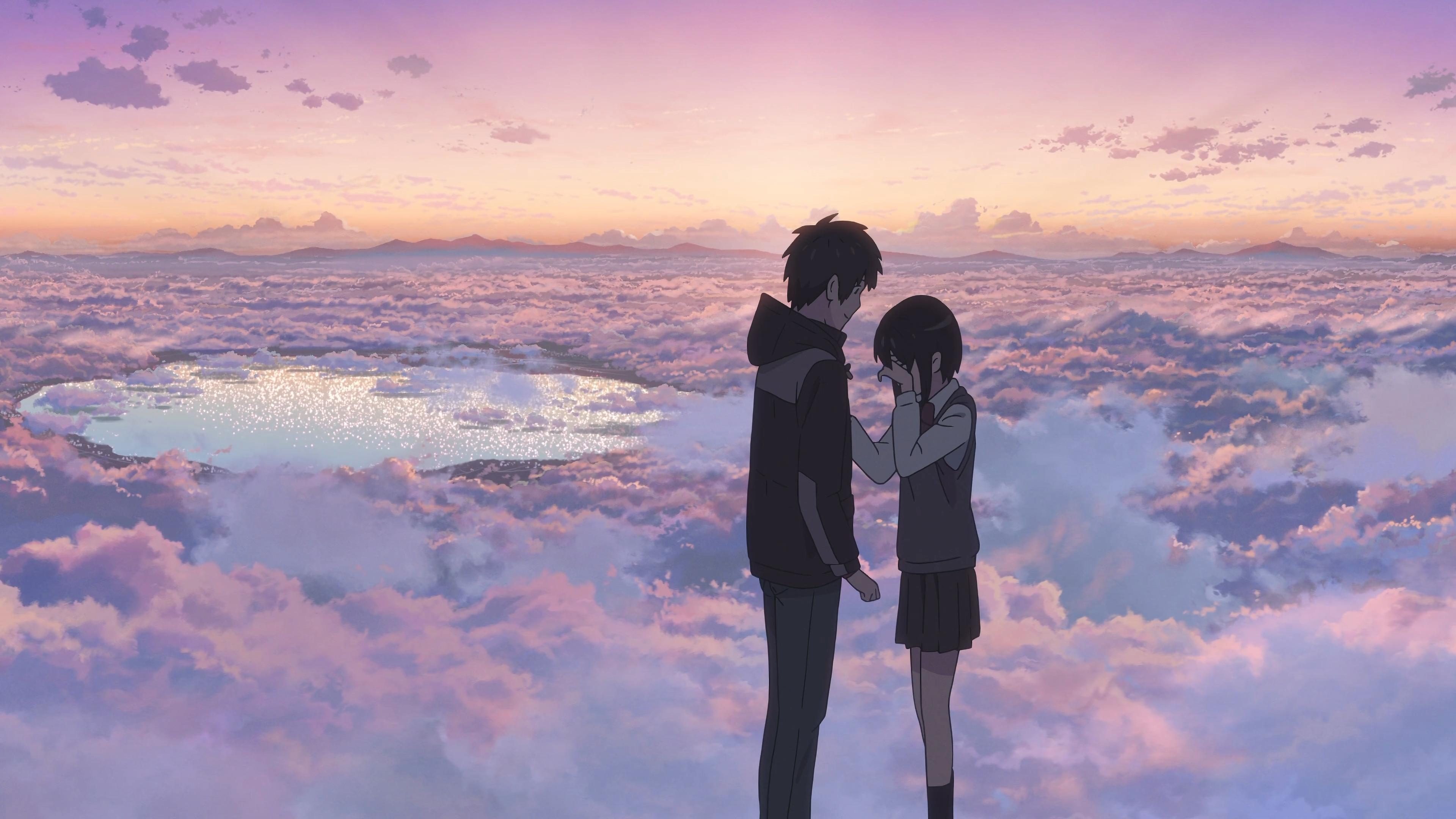 天空,云,恋人,你的名字4K壁纸插图