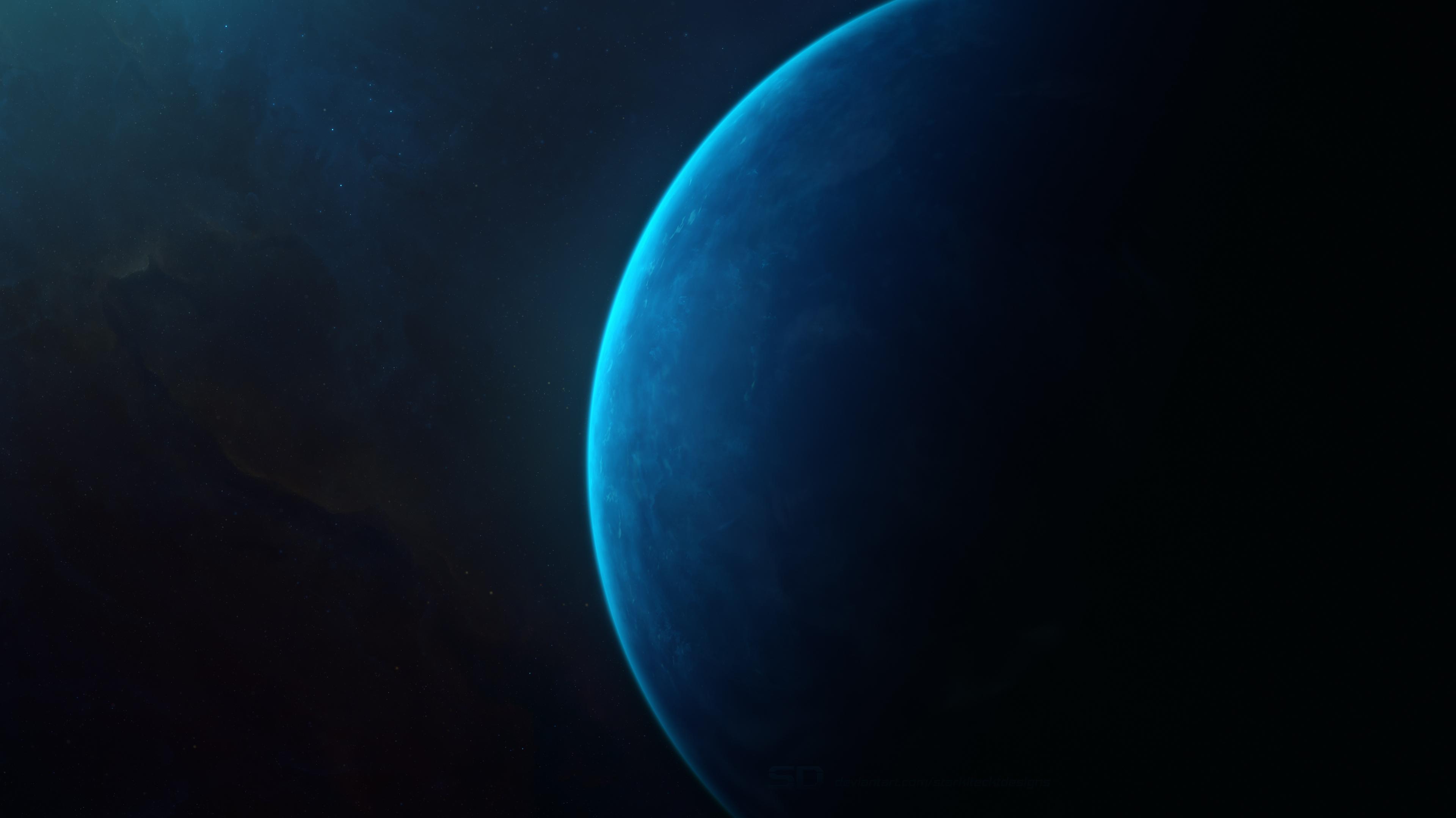 蓝色星球4k壁纸插图