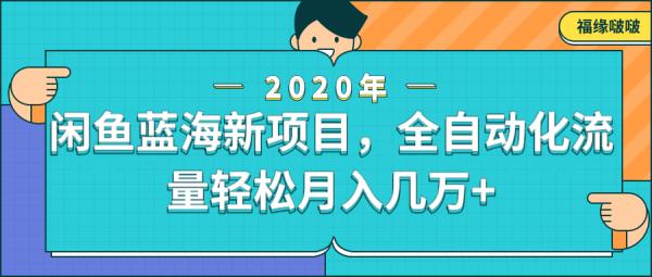 闲鱼新蓝海项目,全自动化流量轻松月入几万-律白资源博客