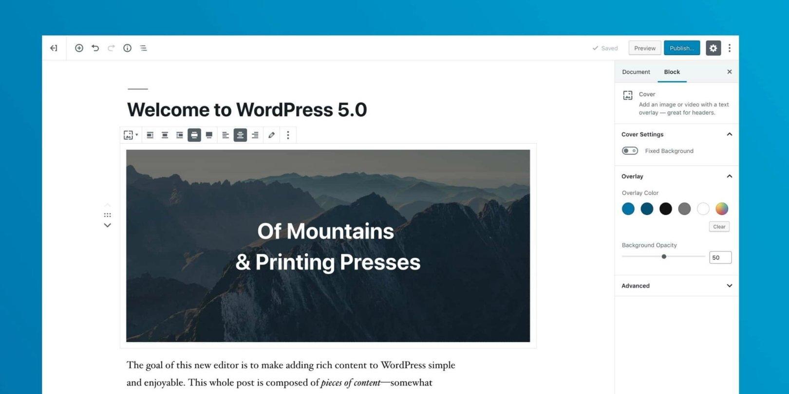 WordPress 5.0 代码禁用Gutenberg编辑器插图