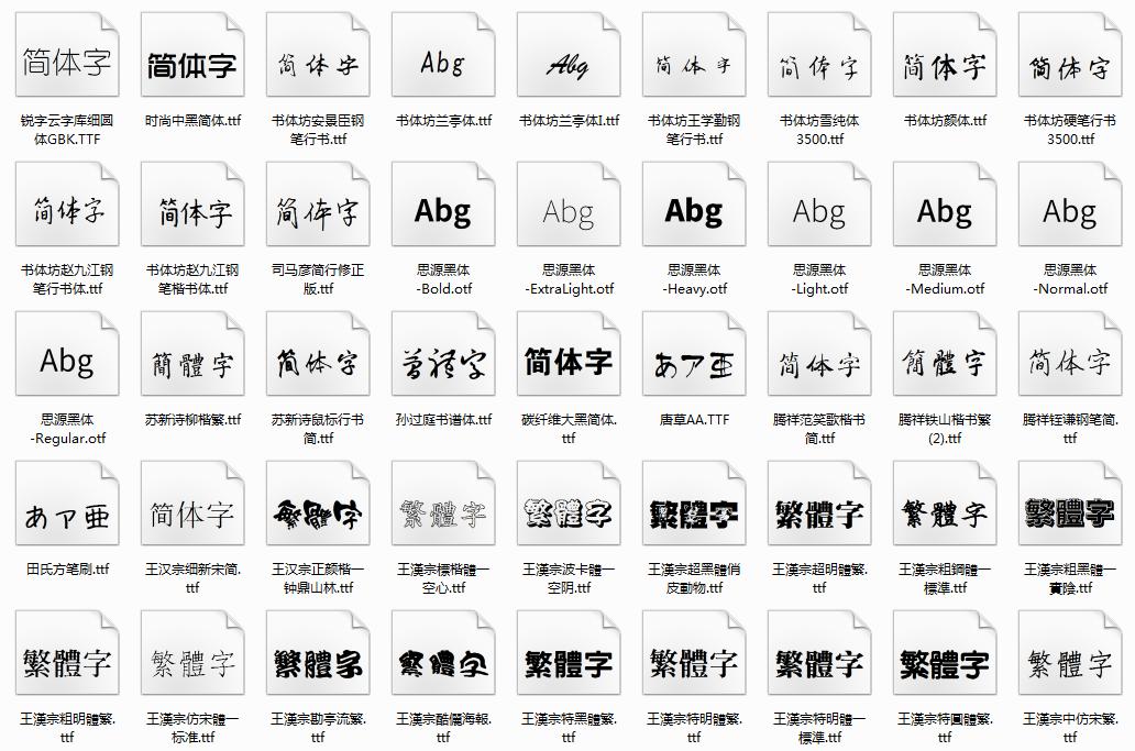 1000多款常用字体合集包插图
