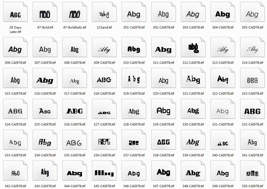 1000多款常用字体合集包插图(1)