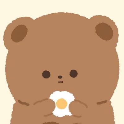 #优质可爱动漫头像#小熊