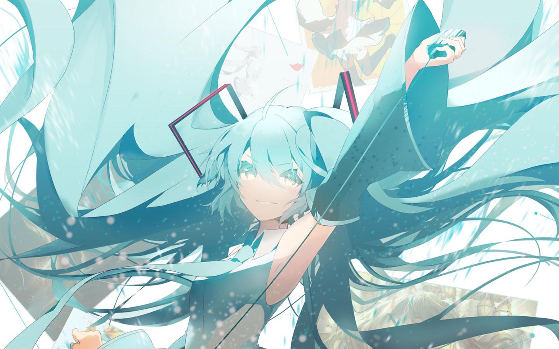 初音未来miku大屏高清1440×900桌面壁纸-初音未来虚拟歌姬演唱会壁纸