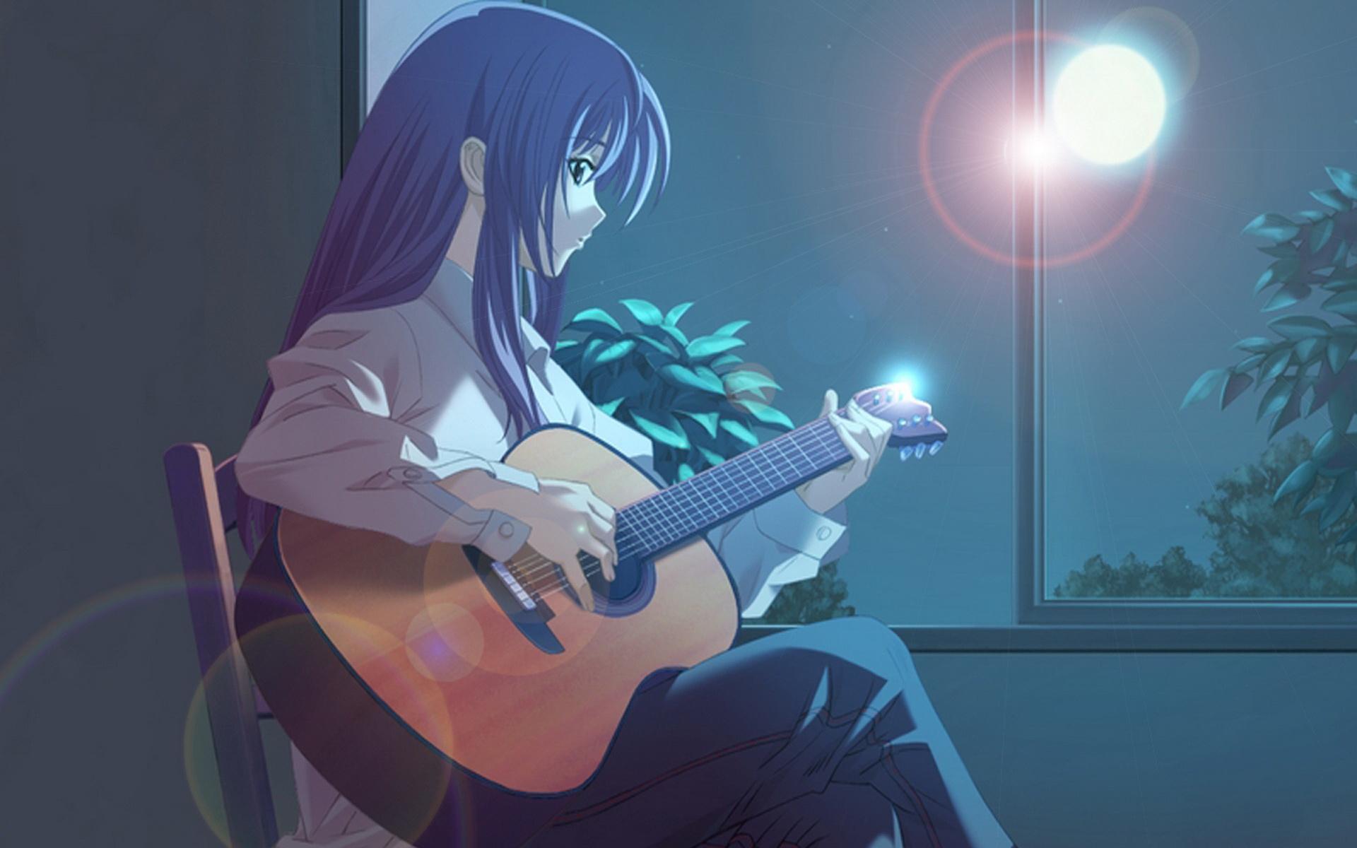 轻音少女可爱动漫吉他美女卡通女生图片桌面壁纸高清下载第二辑