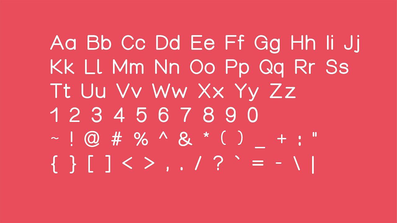 阿瓜准圆体  永久免费商用,英文字体中文字体可免费商用下载