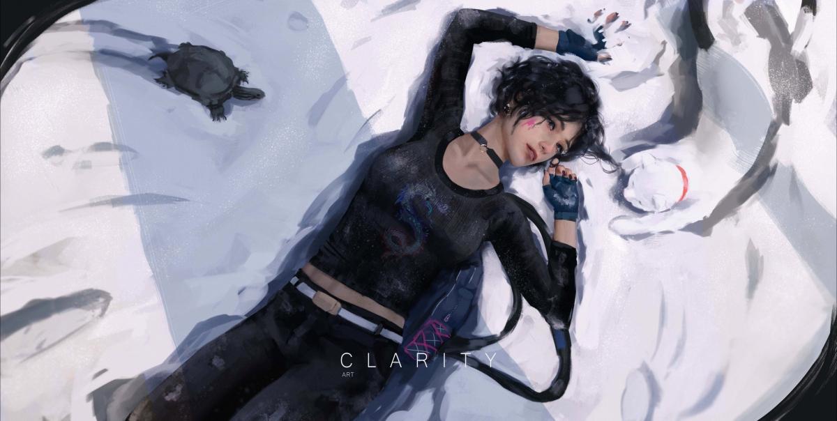 躺在雪地的美女 黑色衣服 动漫女孩 海龟 冬天 雪 猫 好看4k动漫壁纸_4K动漫图片