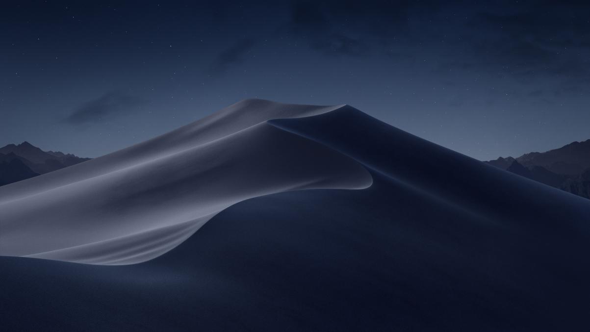 苹果自带macos mojove Mojave Night 莫哈韦沙漠晚上风景5K壁纸_4K风景图片