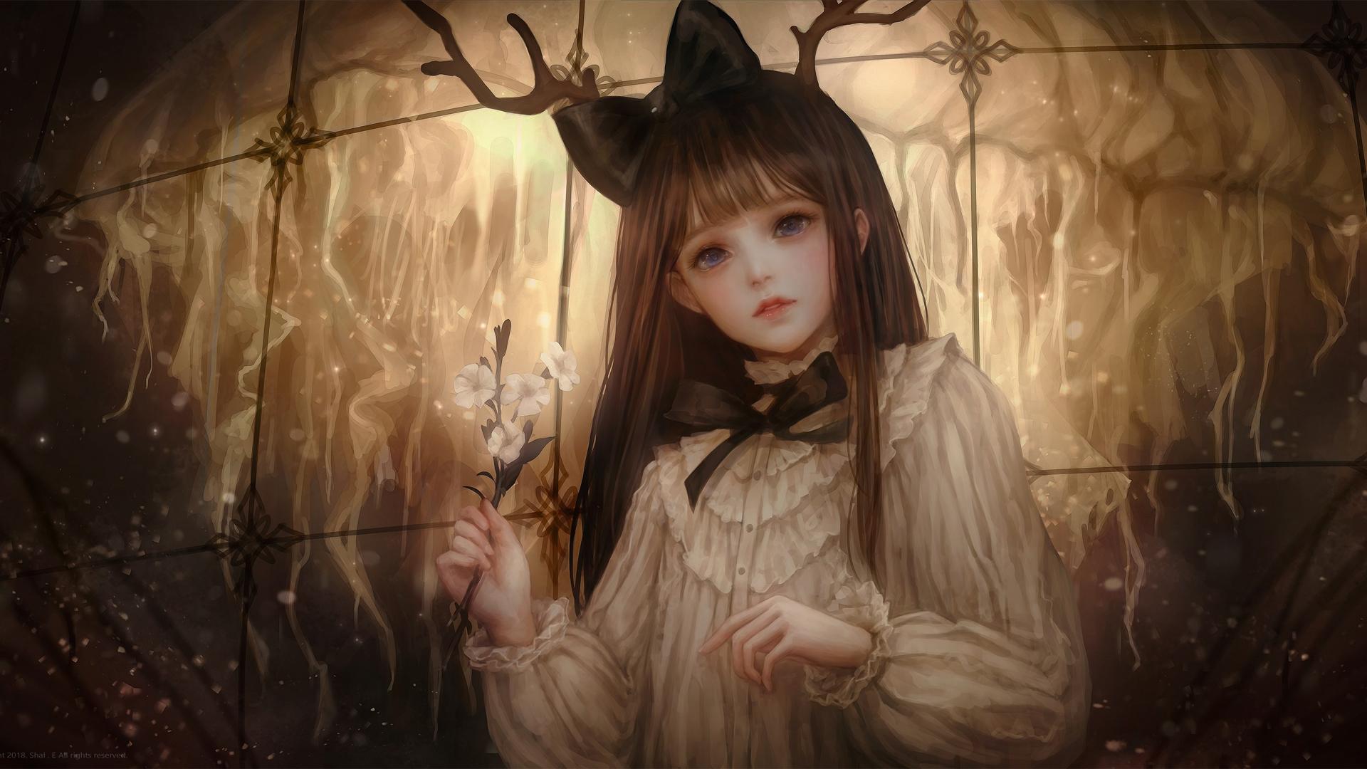 花园神秘少女壁纸-动漫壁纸
