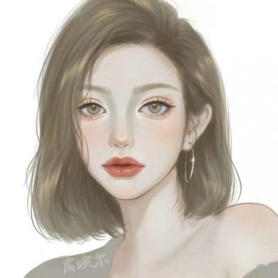 精致气质女生手绘淡雅头像  念七