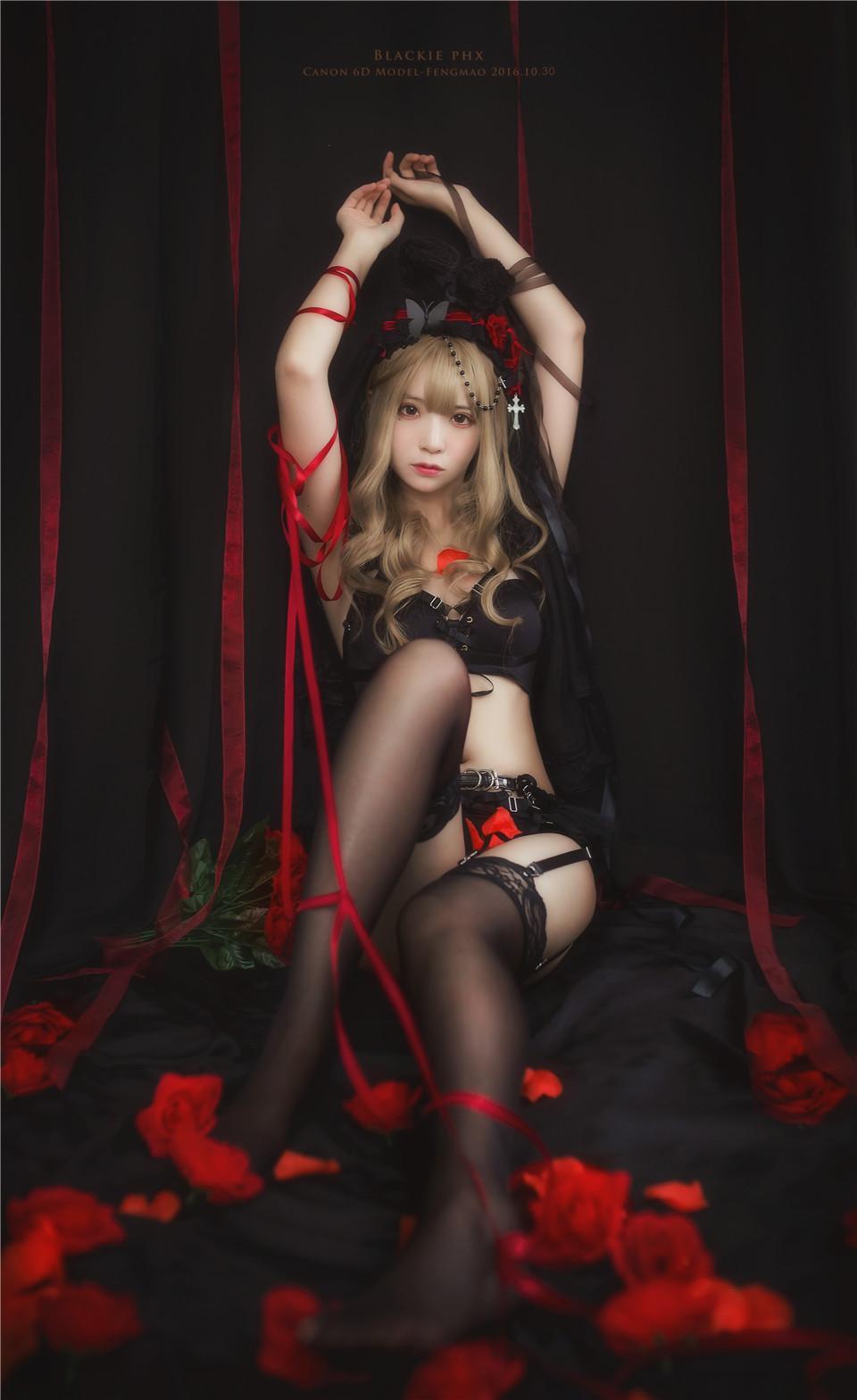 疯猫ss – NO.03 黑丝写真 黑色玫瑰