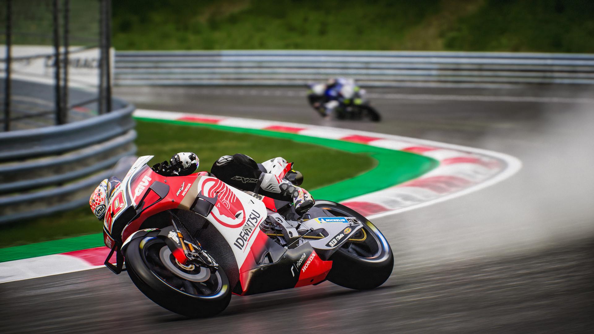 游戏名称:世界摩托大奖赛21 英文名称:MotoGP21 游戏类型:赛车竞速RAC 游戏制作:Milestone S.r.l. 游戏发行:Milestone S.r.l. 游戏平台:PC 游戏语言:中文,英文,日文 发售日期:2021-04-22  【游戏介绍】  带来包含MotoGP、Moto2和Moto3级别赛事的完整2021赛季。游戏收录了超过120位官方车手和20条赛道,加入多项改良和全新功能,并首次引入长圈惩罚,带来无比真实且原汁原味的二轮竞速体验。 更有40多位赫赫有名的历史车手与他们标志性的赛车带你重历MotoGP历史。  【游戏截图】