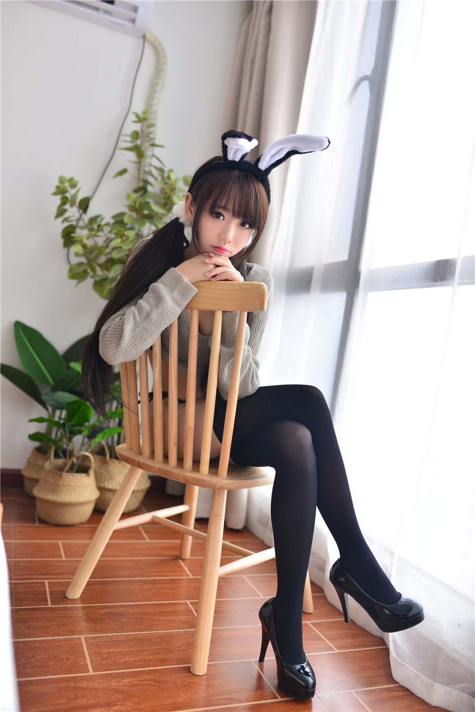 可爱美女 灰兔兔