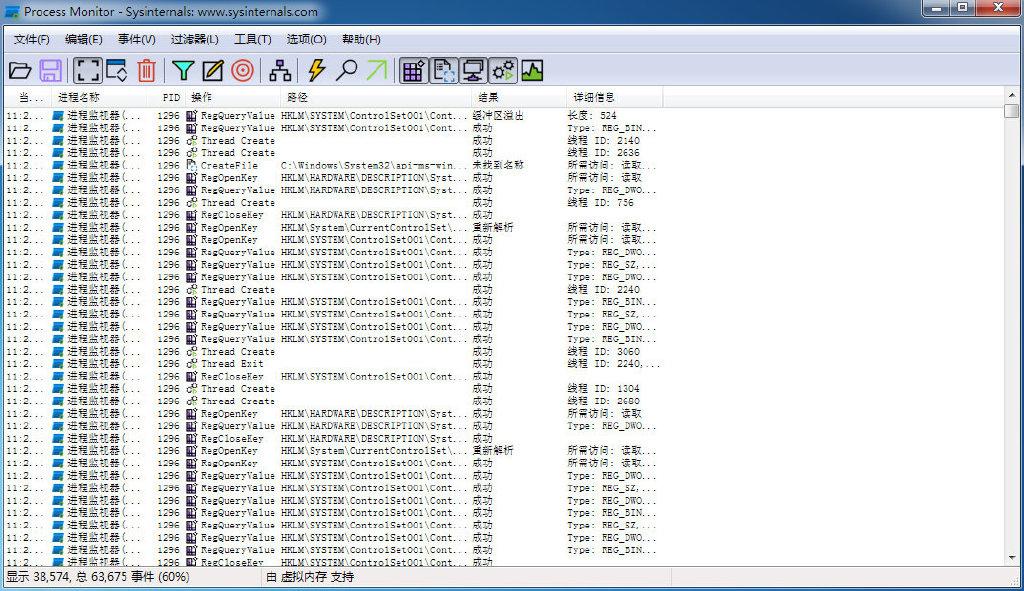 Process Monitor进程监视工具3.80中文版