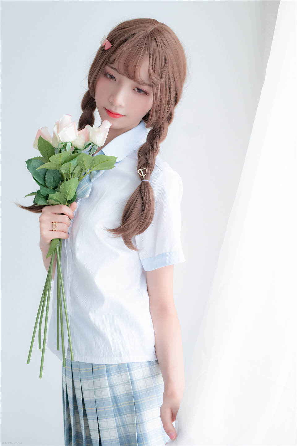 西呱呀呀呀 NO.003 民宿私房淡蓝JKS [46P][453MB]