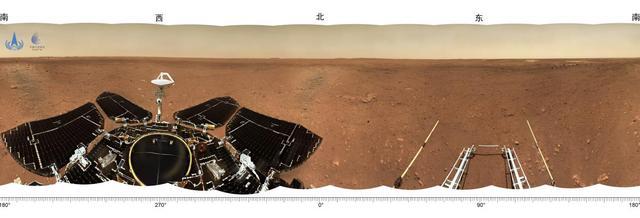 """天问一号探测器着陆火星首批科学影像图公布,祝融号火星车首批""""摄影作品""""公布"""