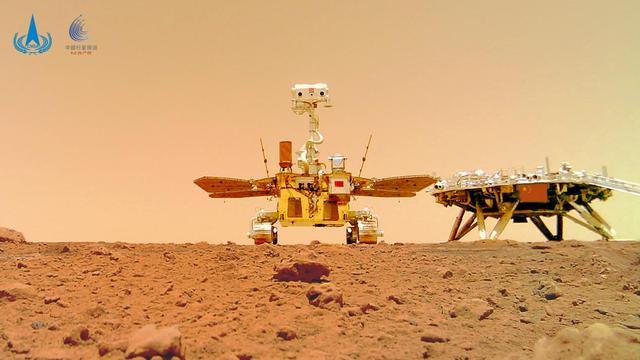 """天问一号探测器着陆火星首批科学影像图公布,祝融号火星车首批""""摄影作品""""公布  第4张"""