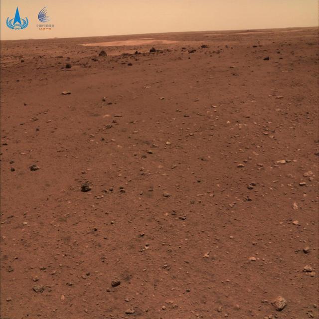"""天问一号探测器着陆火星首批科学影像图公布,祝融号火星车首批""""摄影作品""""公布  第2张"""