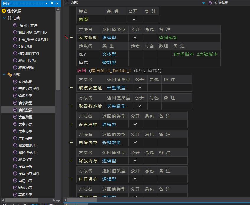 DR-B版本1.2反编译源码半成品(驱动读写模块,编写辅助用)