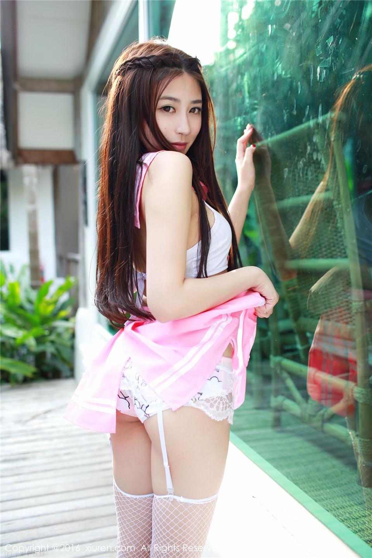 512 牛仔热裤+网袜制服系列 许诺Sabrina[43P][17.3MB]