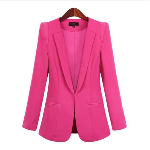 2021 New Plus Size Women s Business Suits Spring Autumn All match women Blazers Jackets Short (2)