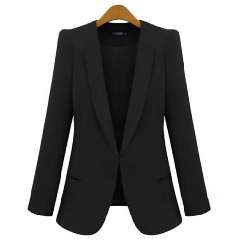 2021 New Plus Size Women s Business Suits Spring Autumn All match women Blazers Jackets Short (1)