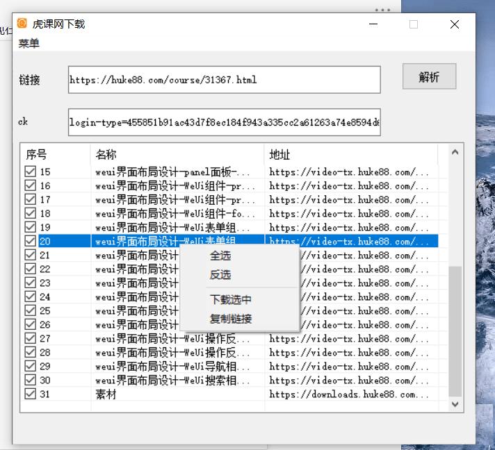 虎课网视频一键下载器 v1.0
