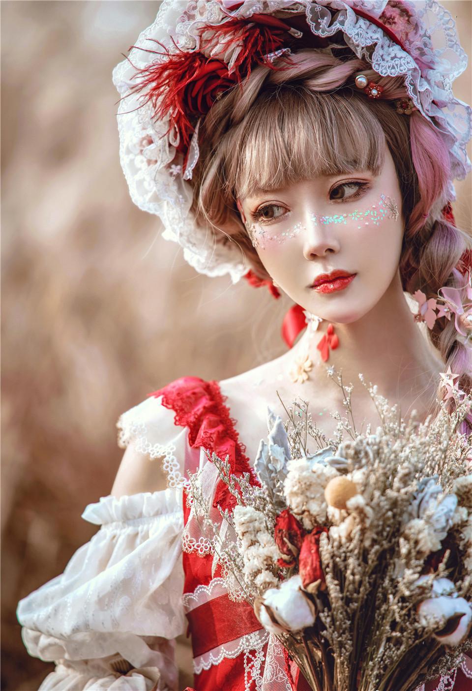 阿包也是兔娘 NO.05 lolita红裙 [159.04 MB]