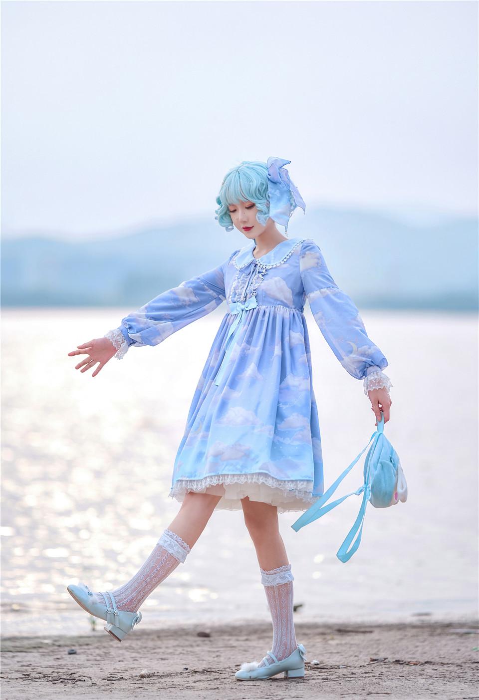 阿包也是兔娘 NO.11 lolita蓝裙 [142.49 MB]